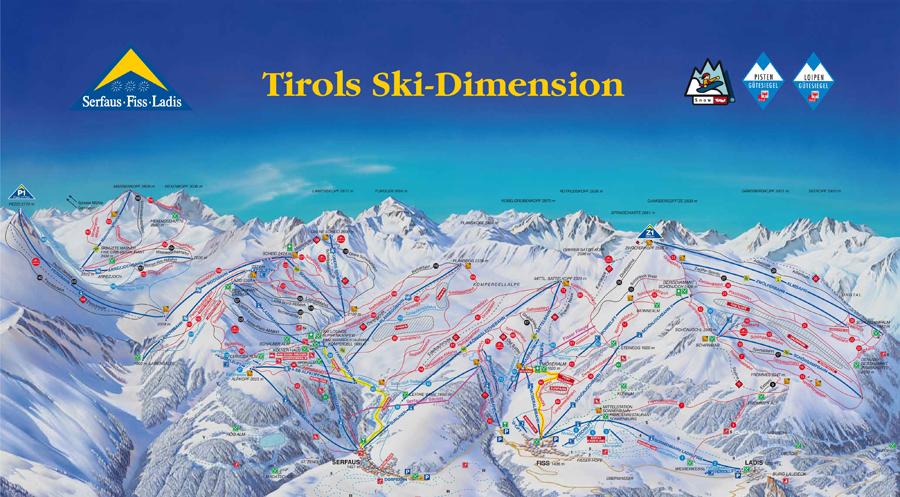 kleur ski pistes