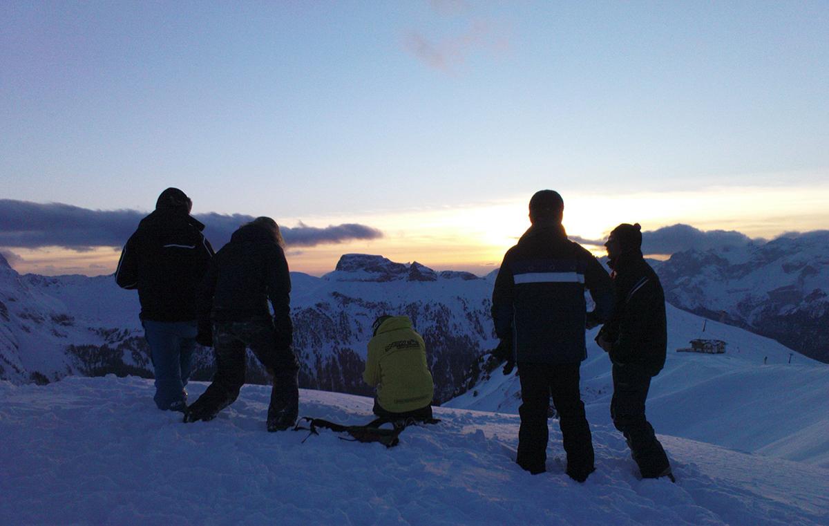 13 snow experience huttentocht dolomiti