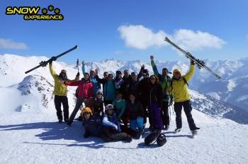 Groepsfoto Skisafari Oostenrijk