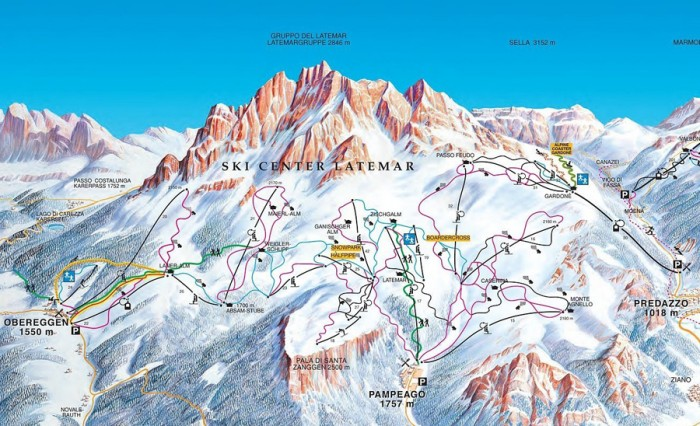 pisteplan-Obereggen-Ski-Center-Latemar-Pampeago-skicenter-Predazzo