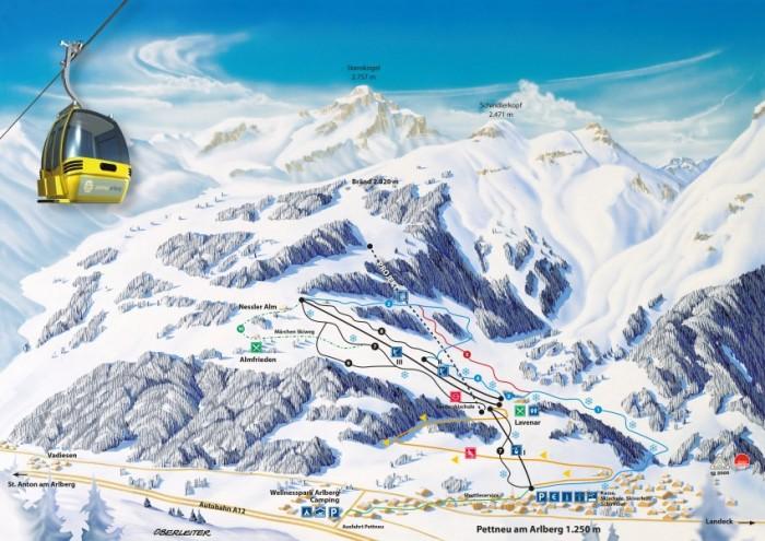 Pisteplan Pettneu am Arlberg